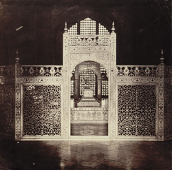 Taj, interior [showing lattice work screens]